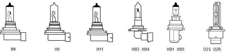 Газоразрядные и галогенные лампы с пластмассовым уплотнительным патроном