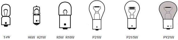 Штифтовые лампы для автомобилей цоколь